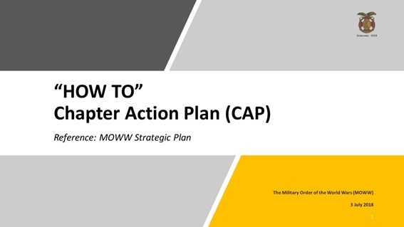 Chapter Action Plans (CAPs) are due 30 Nov 18!